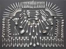 140 Pcs Christofle Cluny pattern silver plate