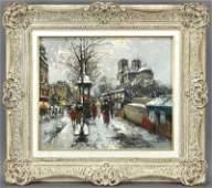 """Antoine Blanchard, """"Vue de Notre Dame aux"""