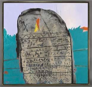 """Enrico Donati, """"Rosetta"""" oil and sand on canvas,"""
