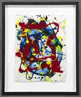 """Sam Francis, """"Untitled Abstract"""" acrylic on paper,"""