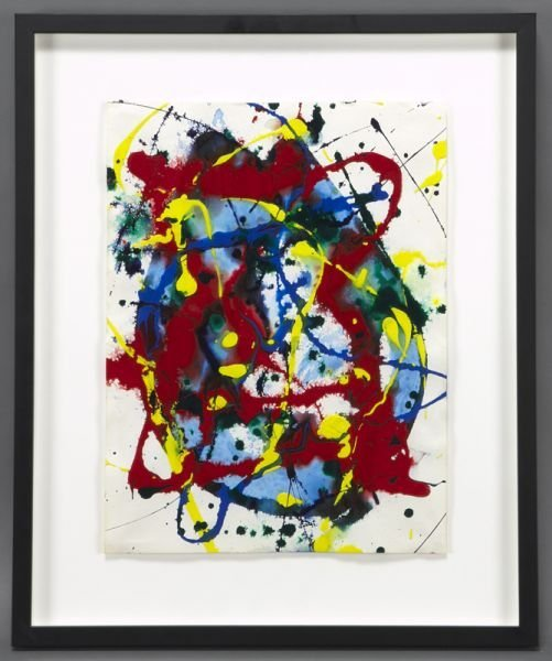 "Sam Francis, ""Untitled Abstract"" acrylic on paper,"