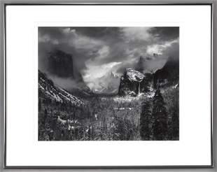 "Ansel Adams, ""Clearing Winter Storm, Yosemite"