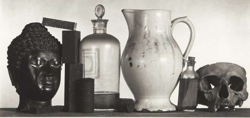 """Irving Penn, """"Still Life with Skull, Pitcher and - 2"""