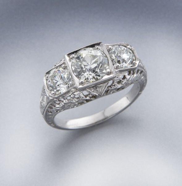 Edwardian 18K gold and diamond ring