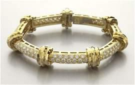 Henry Dunay 18K gold and diamond bracelet
