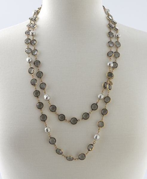 Chanel sautoir necklace comprised of faux pearls