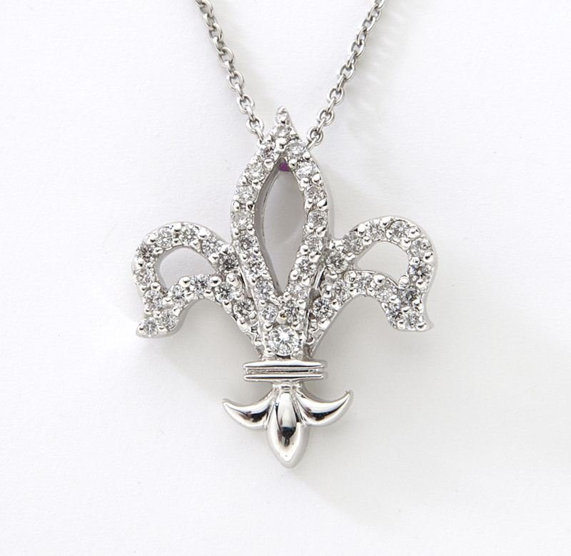 "Roberto Coin 18K, diamond ""Fleur de Lis"" necklace"