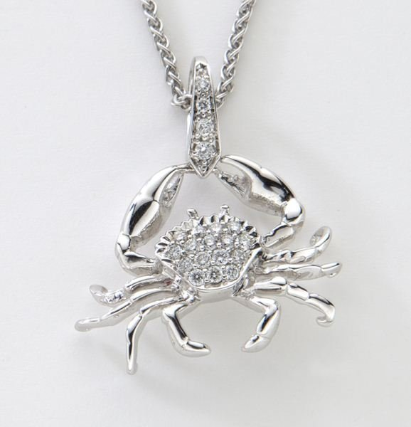 Stephen Webster 18K and diamond crab necklace,