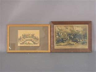 Pair of Currier and Ives early