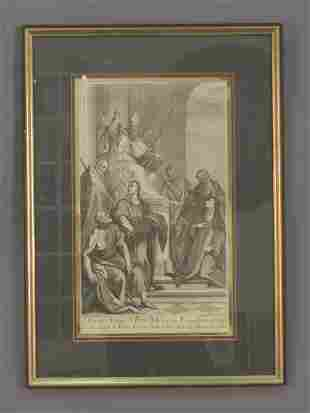 Signed Andrea Zucchi (LR) engraving