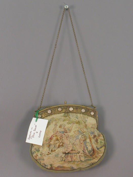 13: Vintage purse with miniature portraits