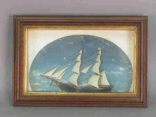 19: Half model sailing ship in a shadow
