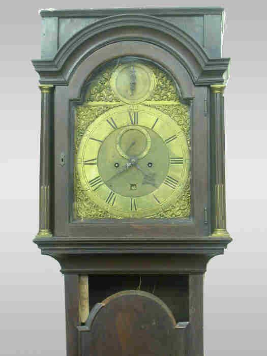 200: Geo. III brass dial grandfather clock,