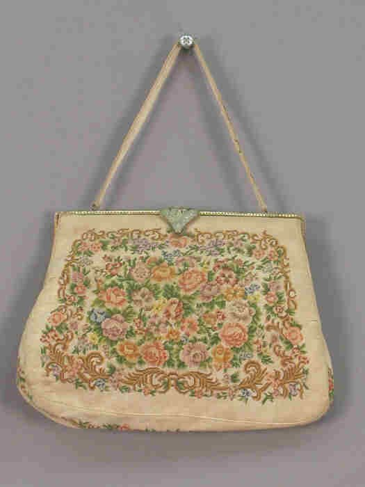 247: French petit point purse