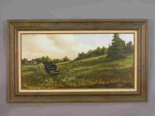 529: Signed Richard Weers (LR) oil on canvas