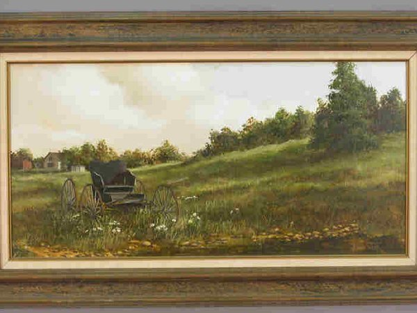 529: Signed Richard Weers (LR) oil on canvas - 2