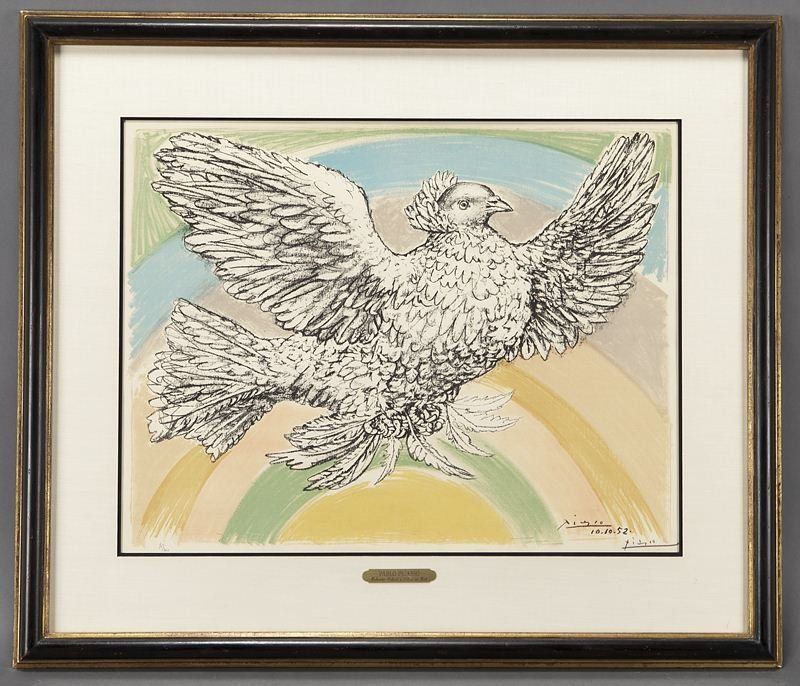 """Pablo Picasso, """"Colombe Volant à L'Arc en Ciel"""""""