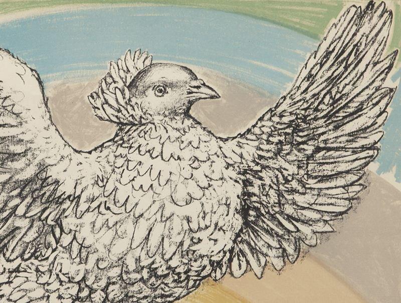 """Pablo Picasso, """"Colombe Volant à L'Arc en Ciel"""" - 3"""