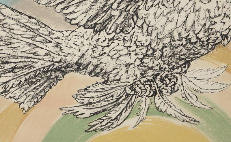 """Pablo Picasso, """"Colombe Volant à L'Arc en Ciel"""" - 4"""