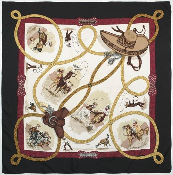 """Hermès silk """"Charreada"""" scarf"""