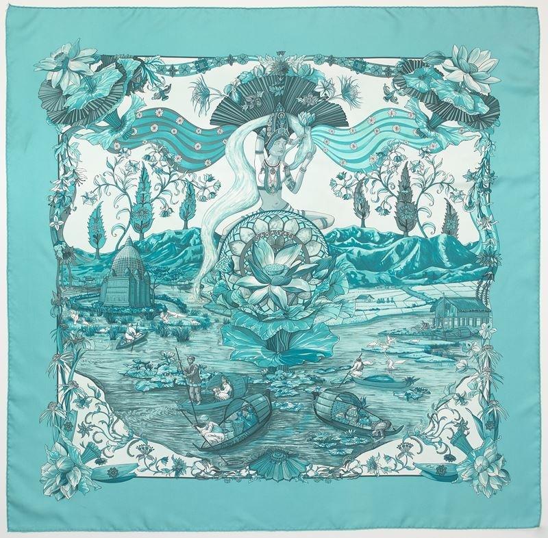 "Hermès silk ""Sarasvati"" scarf"