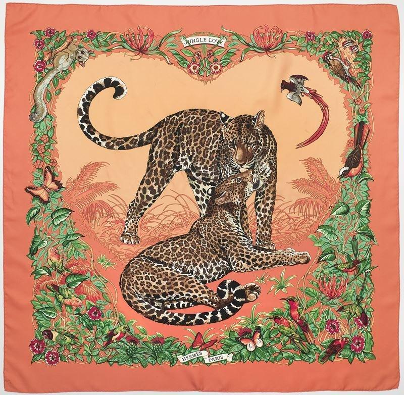 """Hermès silk """"Jungle Love"""" scarf"""