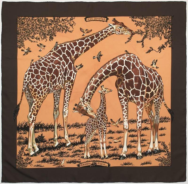 "Hermès silk ""Les Girafes"" scarf"
