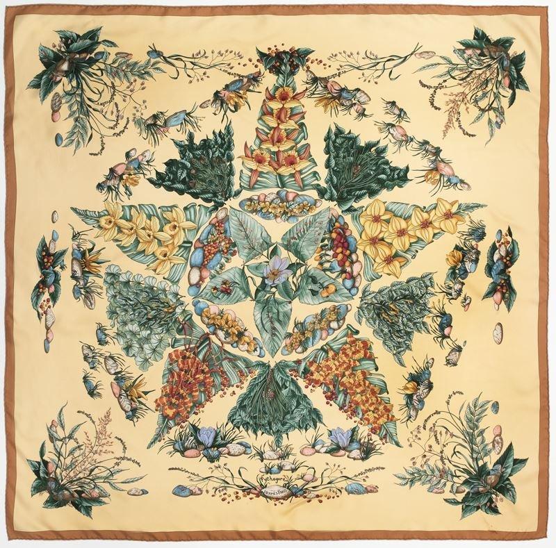 "Hermès silk ""Pythagore"" scarf"