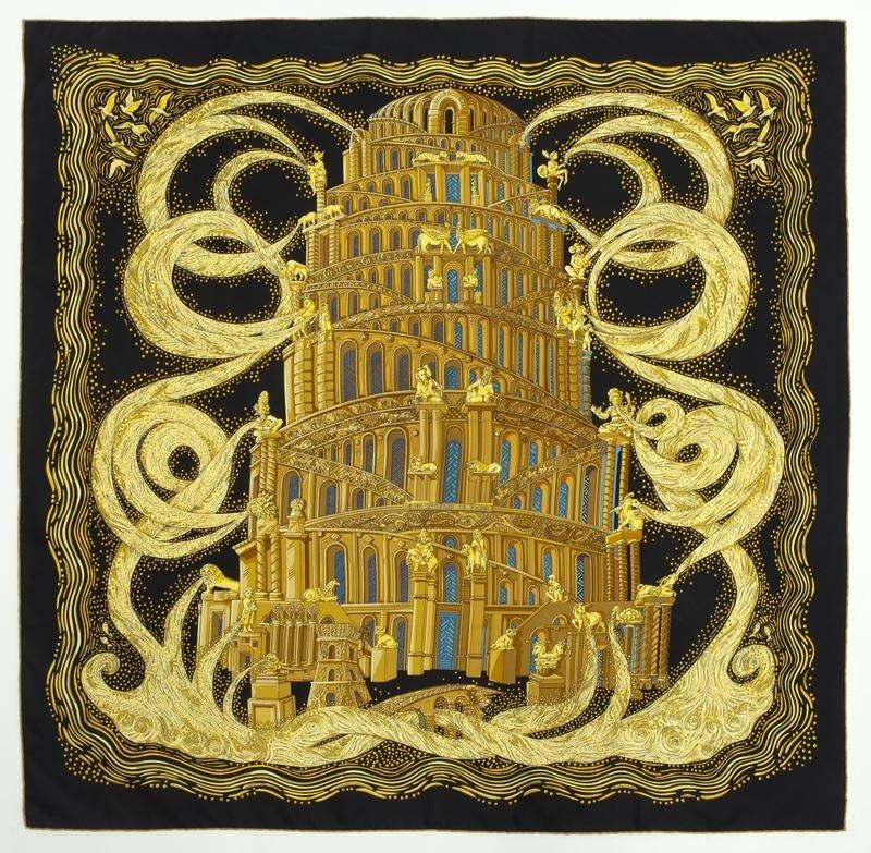 """Hermès silk """"Rivieres de Babel"""" scarf"""