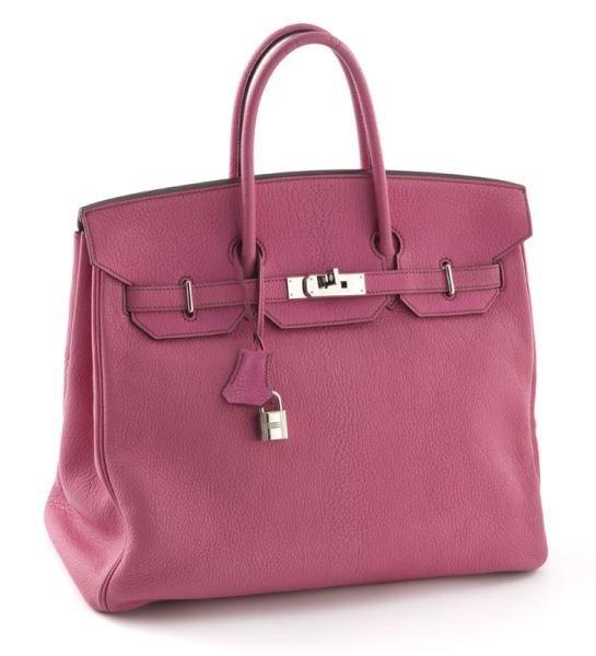 Hermès 40 CM pink Togo leather HAC Birkin