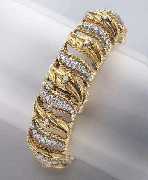 Rolex 14K gold and diamond bracelet watch