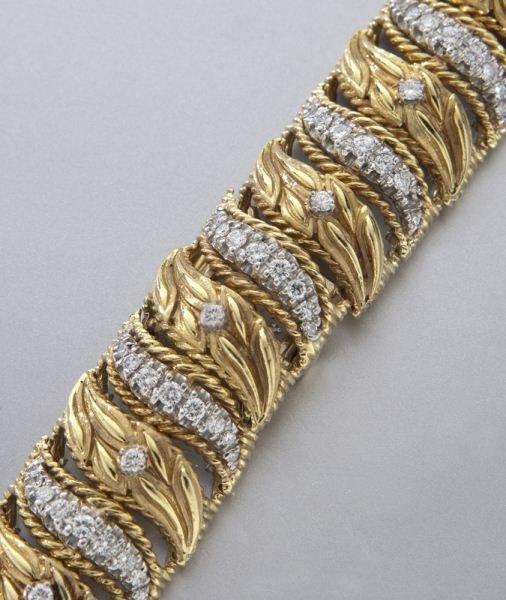 Rolex 14K gold and diamond bracelet watch - 4