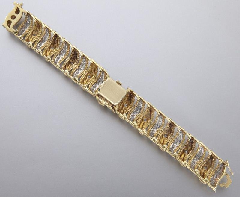 Rolex 14K gold and diamond bracelet watch - 5