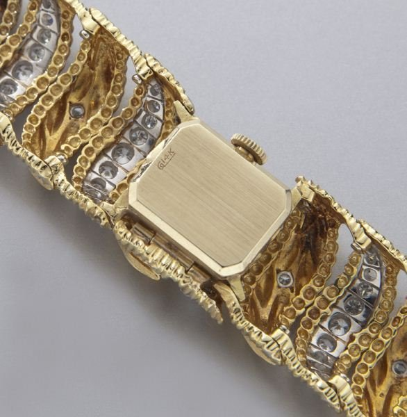 Rolex 14K gold and diamond bracelet watch - 6