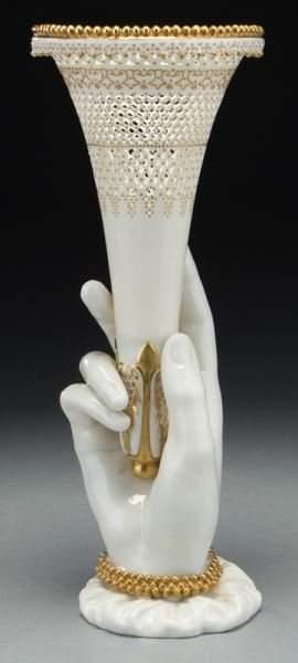 Royal Worcester reticulated vase by George Owen