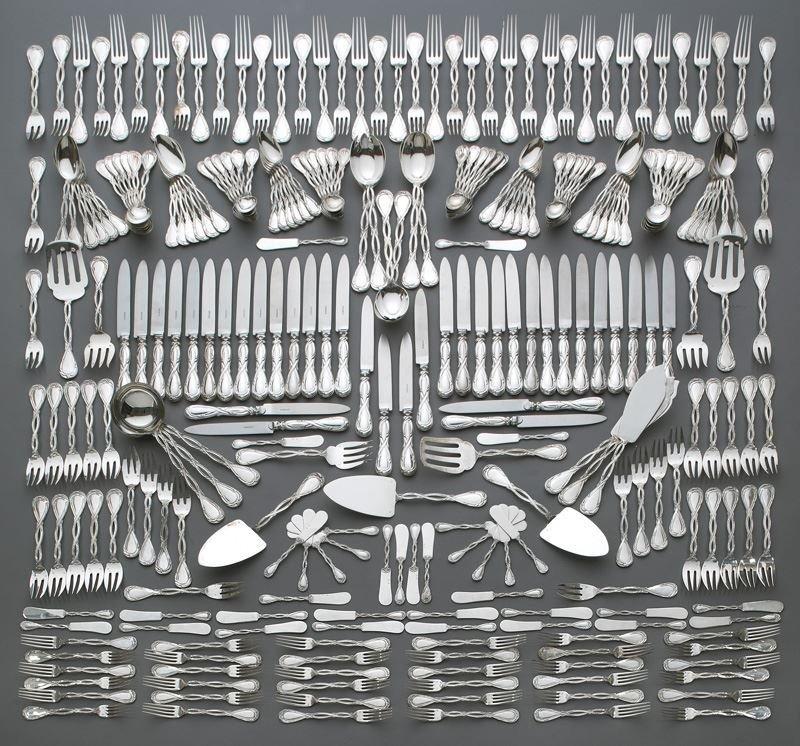273 Pcs. Puiforcat sterling Royal pattern flatware
