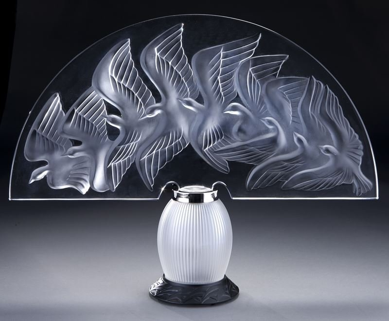 Lalique France clear and frosted glass Hokkaido