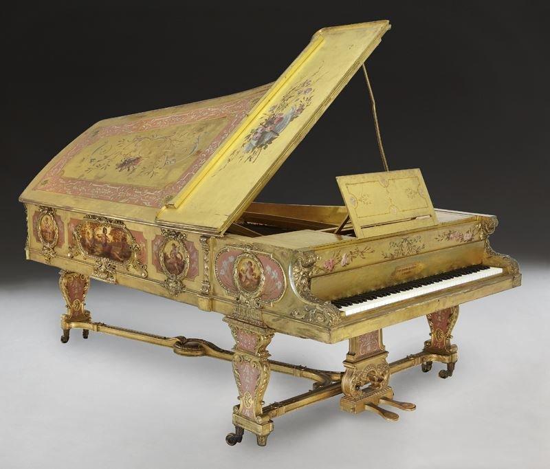 John Broadwood & Sons concert grand piano,
