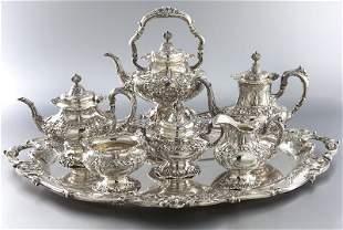 7 Pc. Francis I sterling tea service
