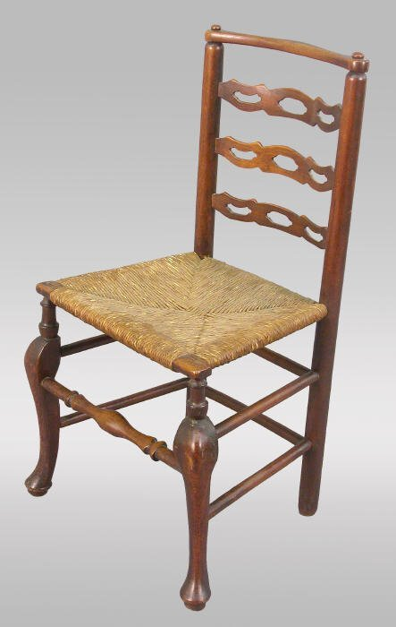 10: English elm ladder back side chair