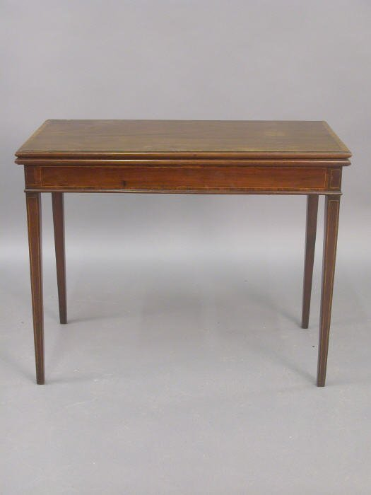12: Mahogany federal style card table with