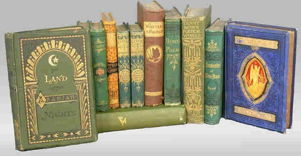 14: (12) 19th C.  poetical books, gold