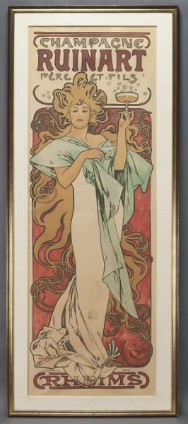 "Alphonse Mucha, ""Champagne Ruinart"" color"