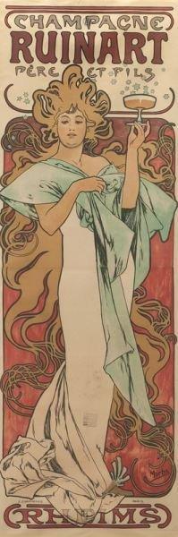 "Alphonse Mucha, ""Champagne Ruinart"" color - 2"