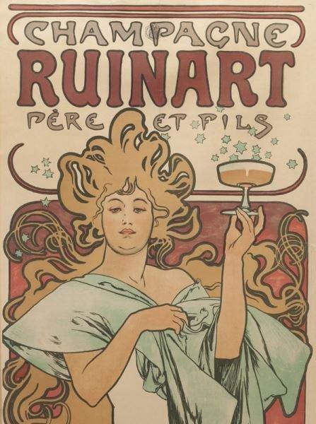 "Alphonse Mucha, ""Champagne Ruinart"" color - 3"