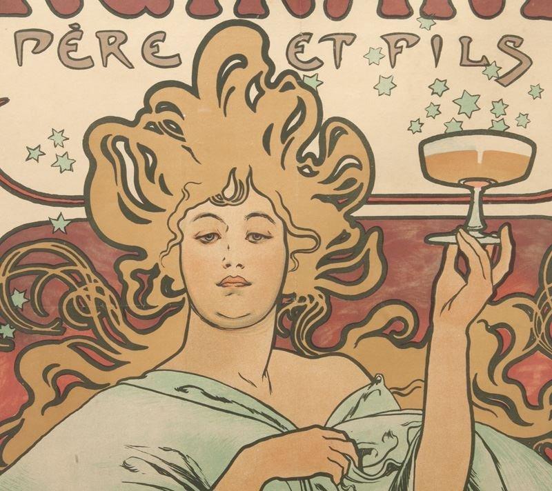 "Alphonse Mucha, ""Champagne Ruinart"" color - 4"