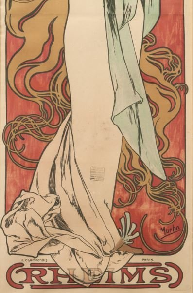 "Alphonse Mucha, ""Champagne Ruinart"" color - 5"