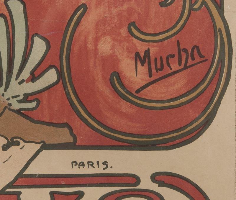 "Alphonse Mucha, ""Champagne Ruinart"" color - 8"