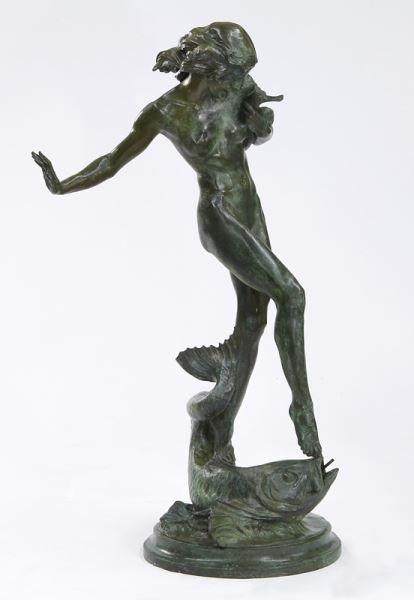 """Harriet Frishmuth """"Humoresque"""" bronze sculpture"""