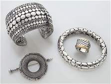 4 pcs David Yurman and John Hardy jewelry